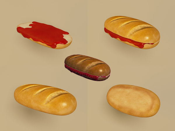 loaf bread jam obj