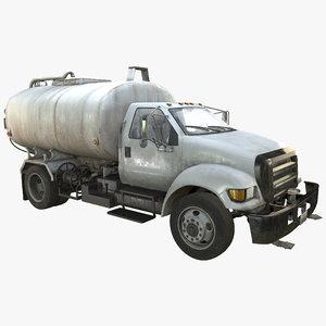 water truck 3d model