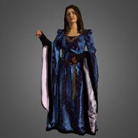 3d model of dame medieval