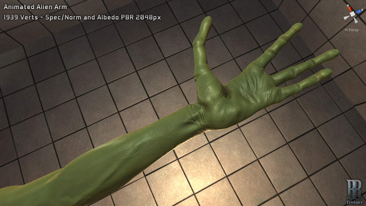 alien arm animations x