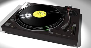 free technics sl-1200mkb turntable 3d model