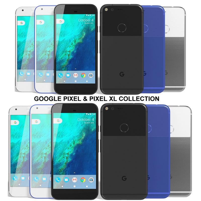 realistic google pixel xl 3d model
