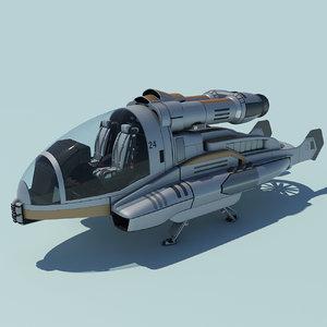 3d flying vehicle concept model