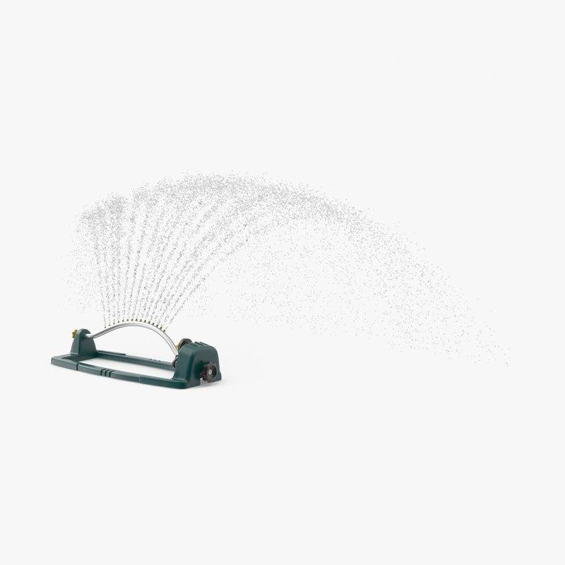 3d sprinkler water