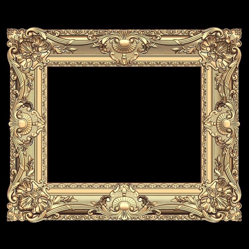 3d model mirror frame stl cnc