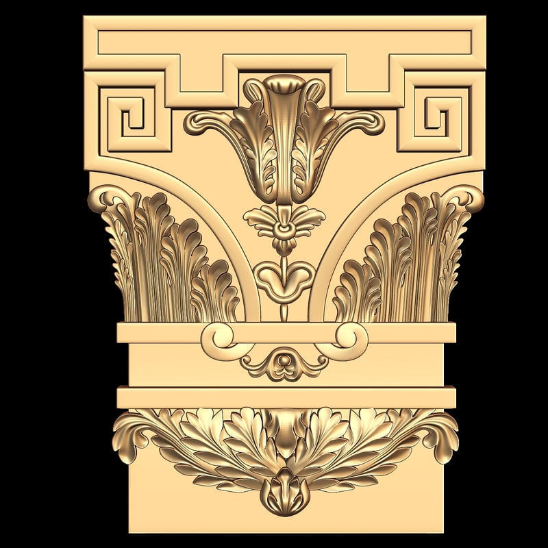 decor element stl cnc 3d model