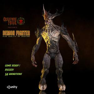 3d model demon fighter