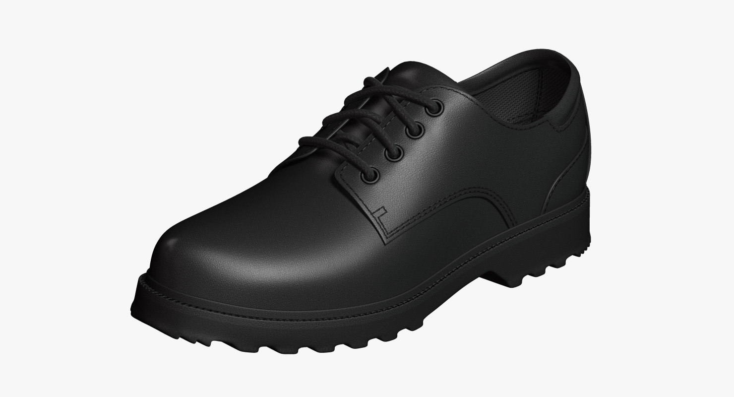 oxford shoes black leather 3ds