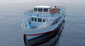 tour boat 3d obj