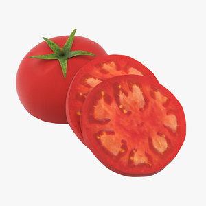 3d sliced tomato