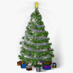 christmas tree animation 3d max