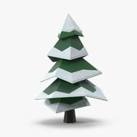 3d snowy pine 02