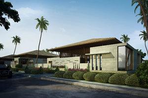 3d model resorts buildings rendering