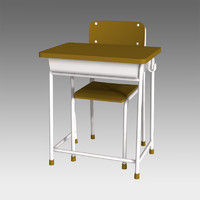 3d model of desk chair