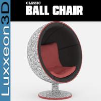 free classic ball chair 3d model