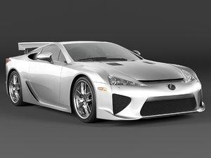 lexus lfa 3d model