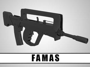 pistole rifle 3d model