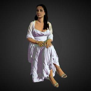 obj lady white dress