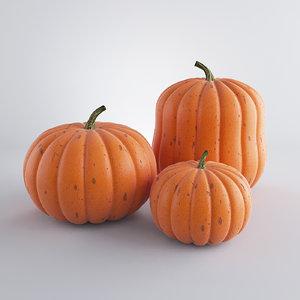 3d realistic pumpkins model