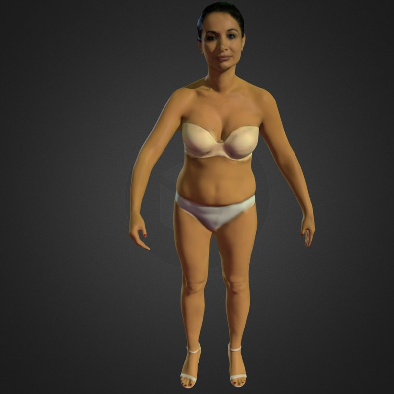 beautiful lady 3d model