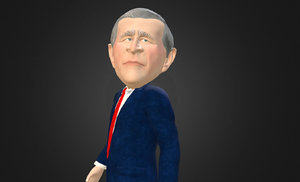 x george w bush caricature