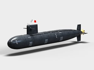 type093 nuclear submarine 3d max