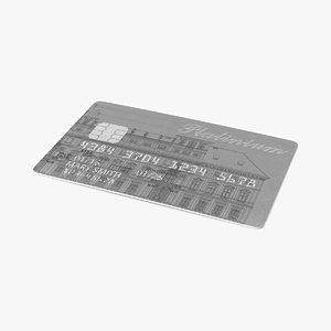 debit card 3d max