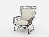 PALECEK 7571-10 CAPRI OUTDOOR WING DINING CHAIR