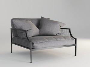 3d armchair mcm house rex model