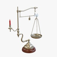 3d model antique scale