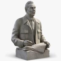 sculpture leonid brezhnev 3d max