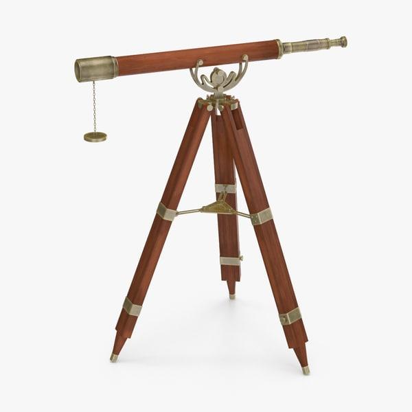 3d max antique-telescope