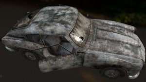 3d abandoned triumph gt6 mk2 model