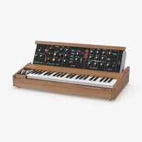 3d model of vintage synth 01