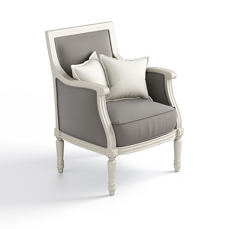 louis xvi armchair contemporary 3d model