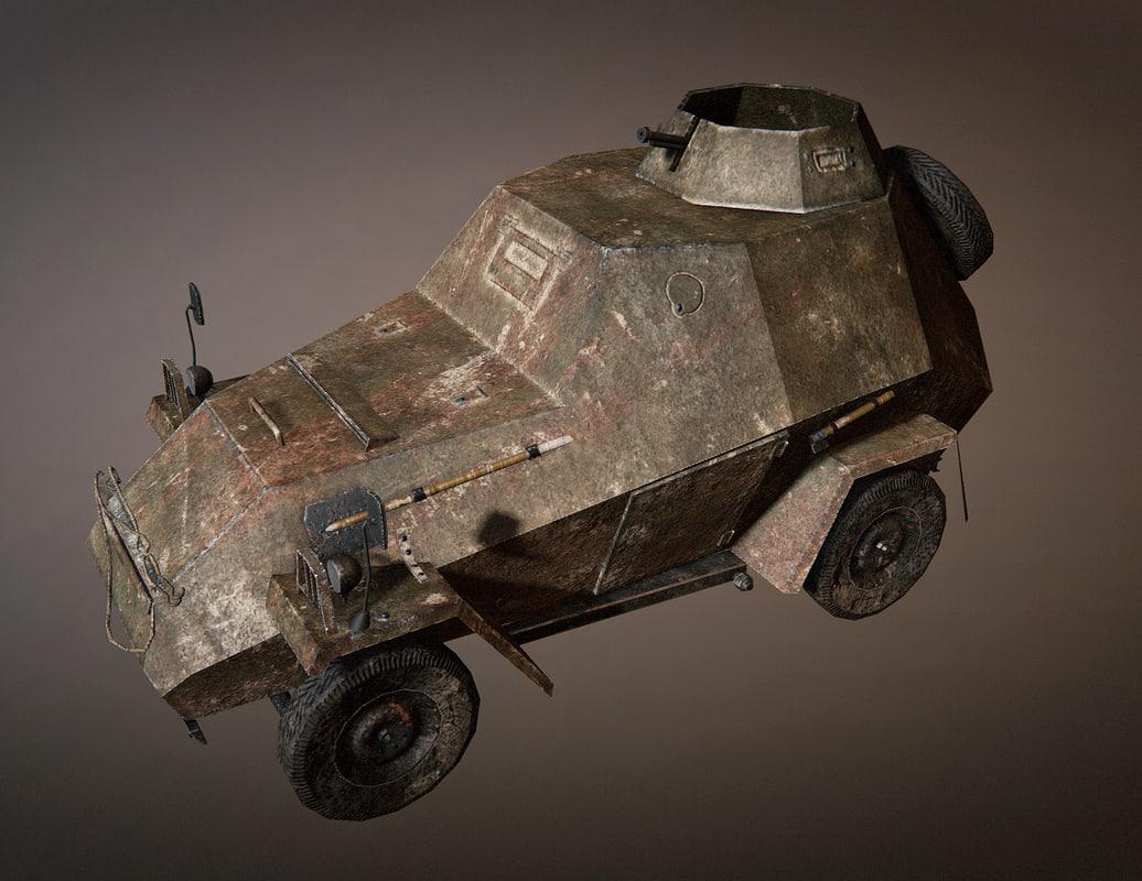 ba-64 tank car 3d obj