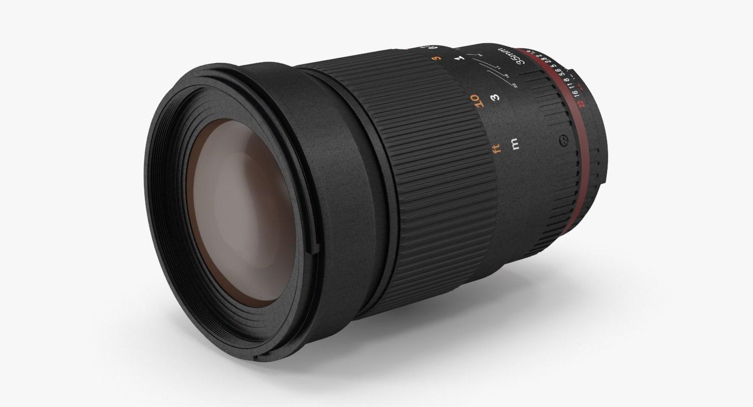 camera lense 3d max