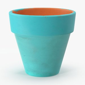 small flower pot painted max