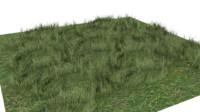 grass square 3d obj