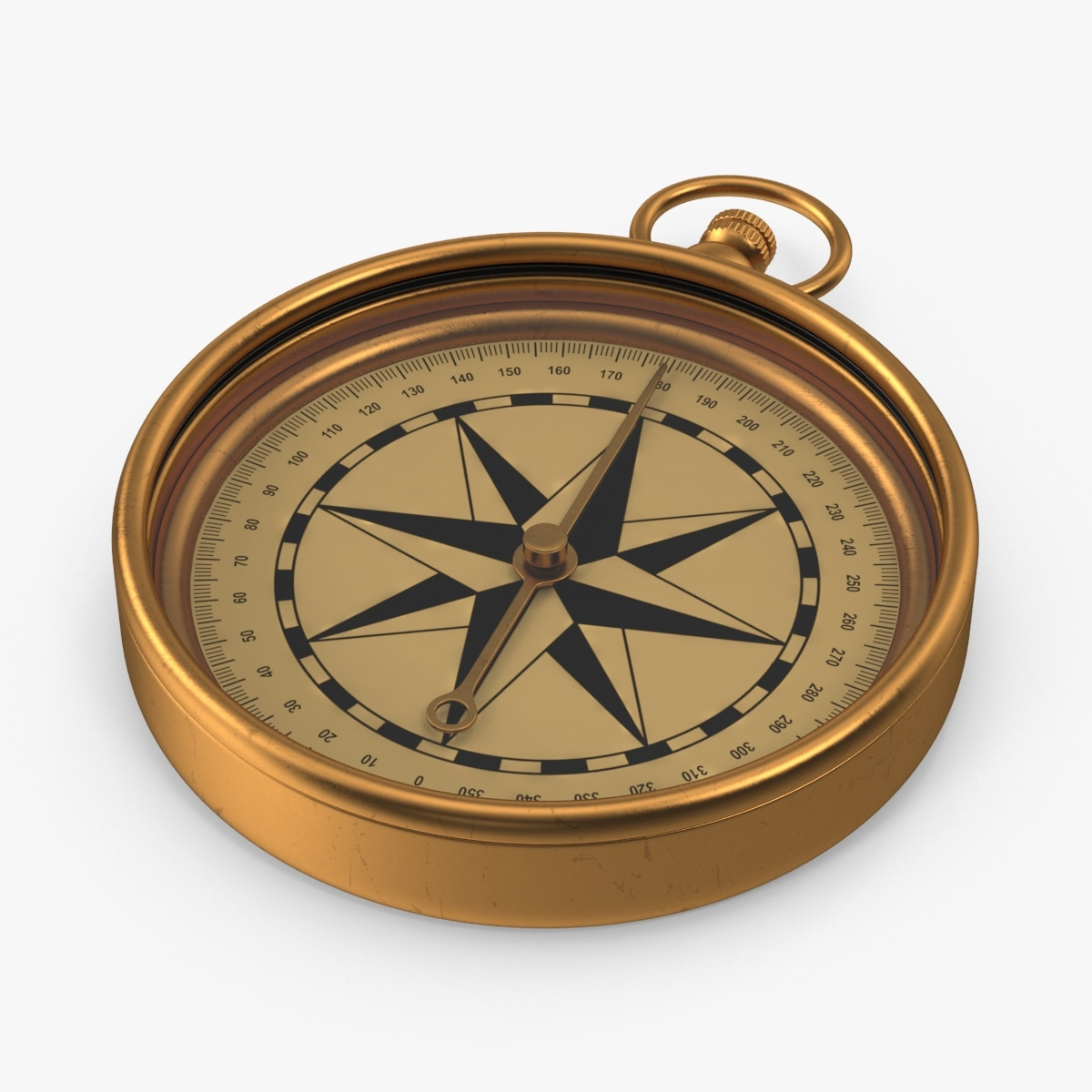3d antique compass