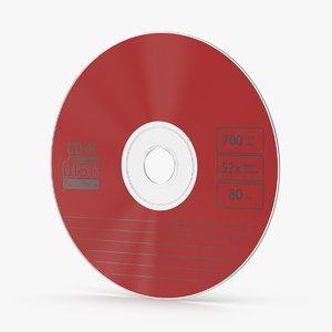 3d model cd red