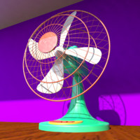 3d model oscillating fan