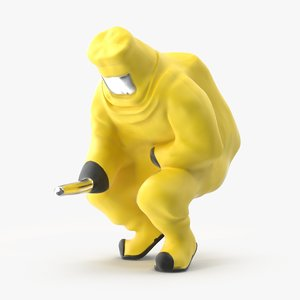 hazmat miniatures squatting 3d model