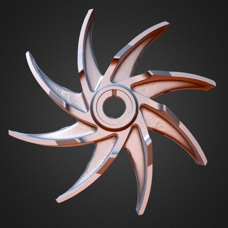 3d model mechanical blades