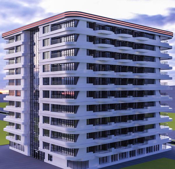 3d hotel interior plan model