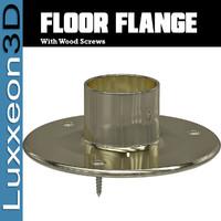 Floor Flange With Wood Screws