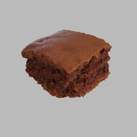 3d model photoreal brownie
