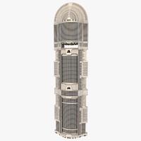 3d model futuristic skyscraper