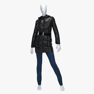 female jacket jeans 3d model