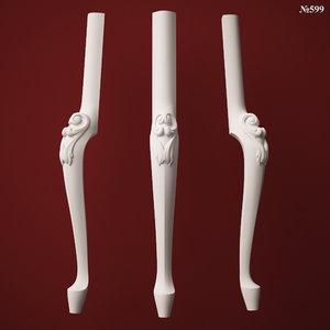 3d model leg stl cnc